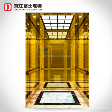 China Office Construction Ideal Commercial Vertical Pvc Polished Tile Floor Safe Panoramic Passenger Elevator Lift