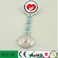 Presente do hospital do relógio da enfermeira da forma do movimento de quartzo