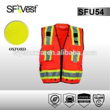 Светоотражающая защитная одежда защитная одежда защитная одежда hi vis vest со многими карманами 100% полиэстер ANSI / ISEA 107-2010