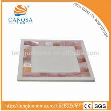 Latest design pink shell ceramic soap dish in Guangzhou
