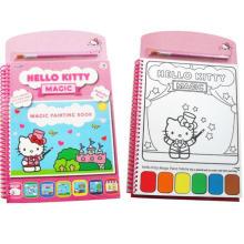 niños dibujarme color hello kitty libro de pintura de acuarela mágica
