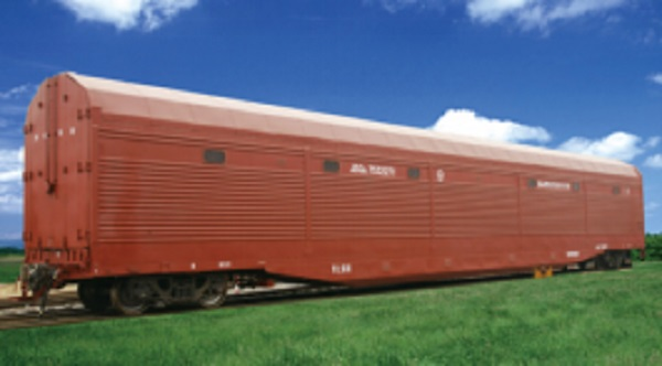 Railway wagon for car transportation