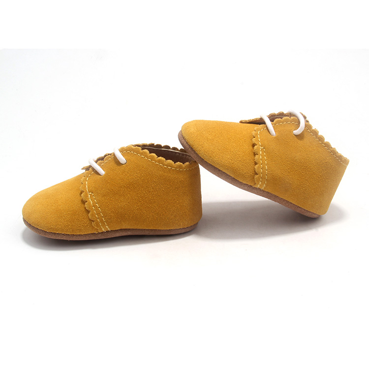 Wholesale Yellow Lacework Toddler Saddle Baby Oxford Shoes