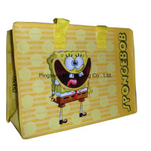 Werbung Gepäckverpackung BOPP Laminierte PP Nonwoven Shopping Zipper Bag