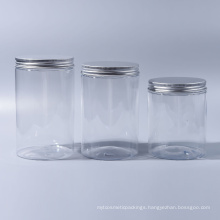 100ml/180ml/300ml/400ml Pet Jar Plastic Wide Mouth Jar for Candy for Food for Ice Cream for Cosmetic Reach Food Grade with Aluminum Caps