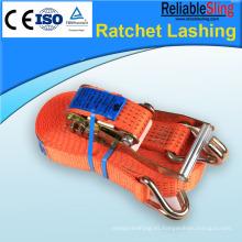 Amarre de carga con trinquete para aparejos de automóviles y motocicletas