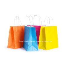 Colorful Kraft Paper Shopping Bag