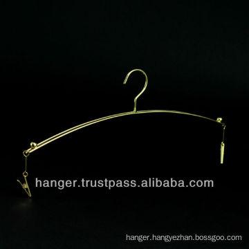 Japanese Metallic Golden Lingerie Hanger with Clips for Bedroom Furniture