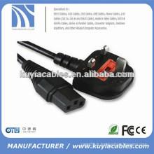 Cordon d'alimentation secteur standard de qualité supérieure de 1,8 m Câble standard pour ordinateur