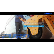 Hand roller compactor hydraulic single drum vibratory road roller automatic soil compactor machine FYL-600C