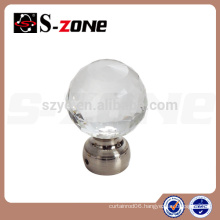 popular crystal curtain rod end caps in competitive price