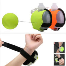 Wearable Hands Free Wrist Water Bottle for Running, Cycling, Hiking Camping Traveling Hydration System for Runners and Athletes