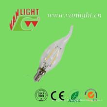 Haute lumière Lumen E14 2W / 4W 3000k ou 6500k Filament LED Lampe