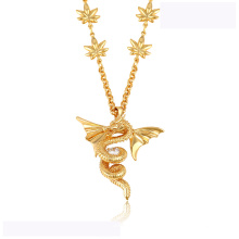 43313 high quality xuping fashion necklace 18K gold color luxurious Flying dragon shape fashion necklace