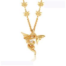 43313 de alta qualidade xuping moda colar 18 K cor de ouro de luxo Flying dragon forma colar de moda