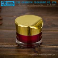 YJ-XC50 50g perfeito estilo moderno atraente redondo elegante frasco cosmético de cintura fina