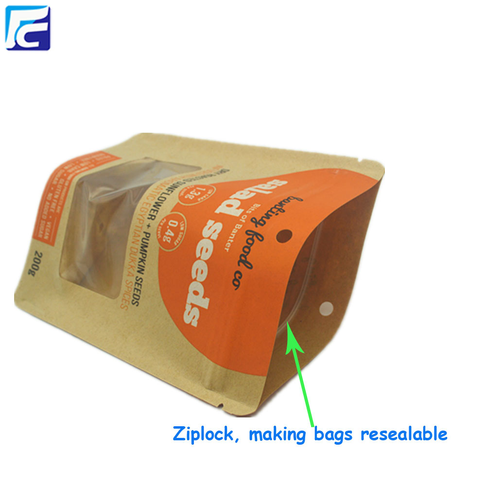 kraft paper pouch food packaging