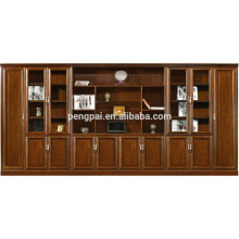 hot selling antique wooden bookcase with photos