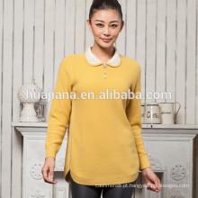 Fábrica produzindo camisola jacquard de cashmere feminina