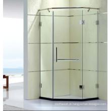 Dobradiça competitiva elegante chuveiro de vidro temperado cubículo com revestimento limpo (k31)