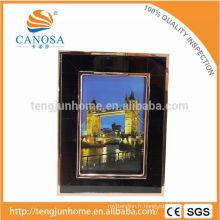 Eco Friendly Pen Shell Frame Photo avec Golden Edge