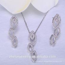 Le plus récent bijoux brésiliens 925 en argent sterling ensembles de mariage costume bijoux