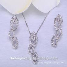Newest brazilian jewelry 925 sterling silver wedding sets costume jewelry