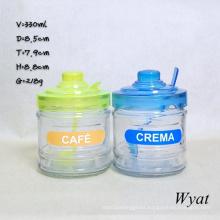 330ml Glass Ice-Cream Jar with Lid 12oz Glass Icecream Jar Glass Jar