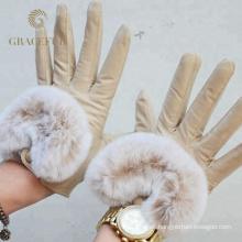 Precio competitivo mujeres sexy guantes de piel de cuero guantes de invierno