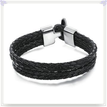 Fashion Jewelry Leather Jewelry Leather Bracelet (LB051)