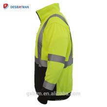 Pull réfléchissant fait sur commande de pull de veste de haute visibilité de la visibilité ANSI jaune de la classe 3 de pull de visibilité élevée de visibilité pour les coureurs de nuit / ouvriers