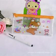 Modificado para requisitos particulares barato PVC baratos colores lápiz bolsa