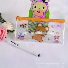 Promotional gift PVC kids pencil, plastic pen case, plastic bag with zipper, PVC bag