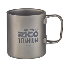 Taza de doble pared de titanio 300ml