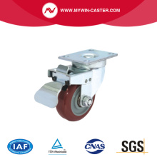Plate Top Swivel Industrial Caster PU-Rad