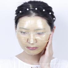 máscara de encaje de hidrogel de colágeno de oro
