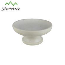 elegante weiße Marmorfruchtplatte