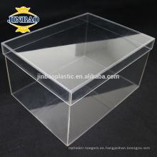 JINBAO Clear Plexiglass Shoe Display Case fábrica de acrílico Shoe Box