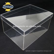 JINBAO Clear Plexiglass Shoe Display Case factory Acrylic Shoe Box