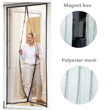 Magnetic Screen Door with Polyester and Pushpin