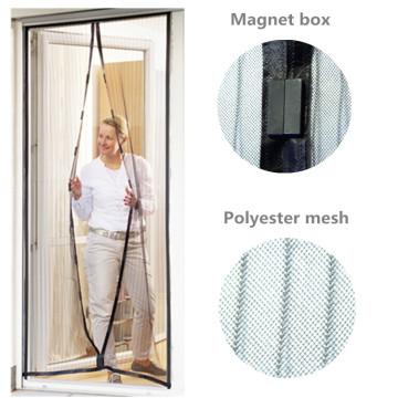 Puerta de malla magnética con poliéster y pasadores