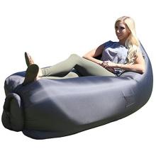 Saco de sono de enchimento da banana do ar, saco inflável da configuração do sono