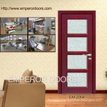 4. CE Cheap Wooden Plastic Bedroom Wooden Interior Door