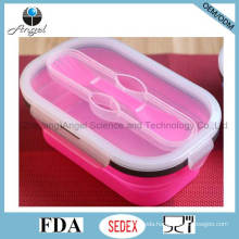 800ml Folding Silicone Food Storage Silicone Food Box Sfb11