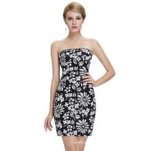 Starzz 2016 New Design Strapless White Sequins Tight Short Cocktail Dress ST000053-2