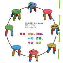 JQ juguetes duraderos y coloridos sillas de plástico para taburetes