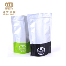 Guangzhou Maibao Custom Color Printing Ziplock Stand Up Silver Aluminium Foil Bags For Food Packaging