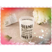 High-End Soy Wax Vela de Natal em frasco de vidro com caixa de presente