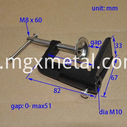 RTC0007 Aluminum Tablet Holder For Desk Size