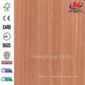 JHK-F01 Bonne qualité Flat Red Sapelli Natural Deep Mold HDF Simple Door Skin Factory